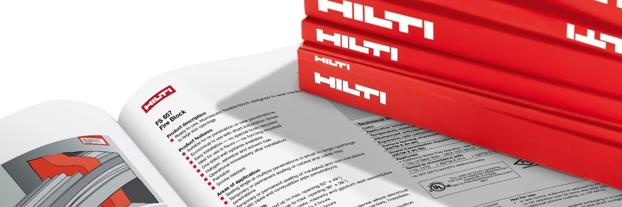 Hilti technical literature for fire protection