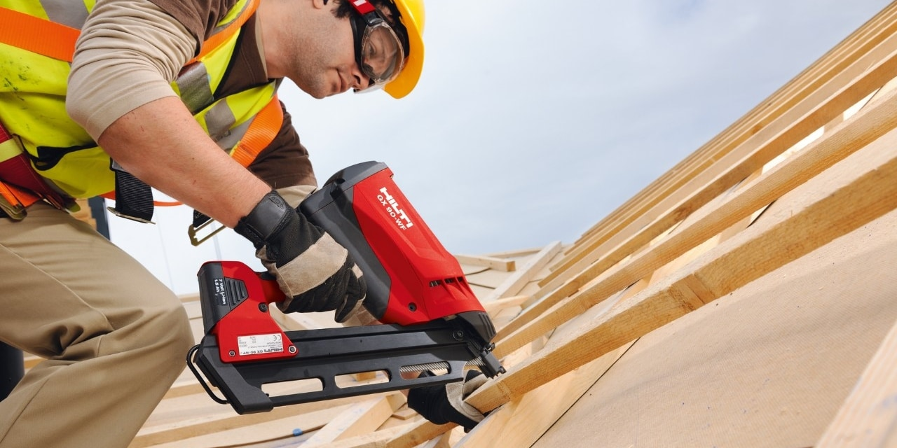 Hilti GX 90-WF gas-actuated fastening tool for wood framing applications